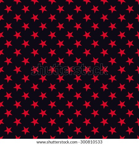 Seamless red and black stars pattern