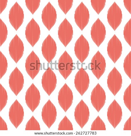 Seamless red ogee ikat pattern