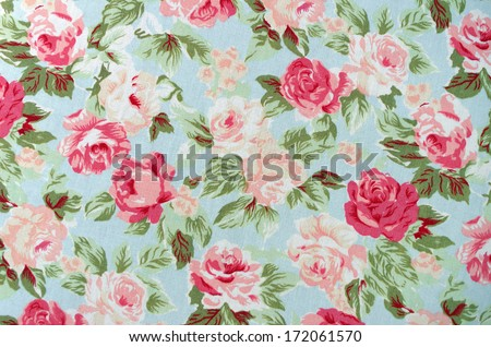 Seamless retro background with roses  - stock photo