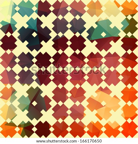 Seamless Retro Geometric Pattern  - stock photo