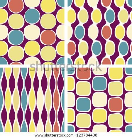 Seamless retro geometric pattern. Vector version available in my portfolio - stock photo