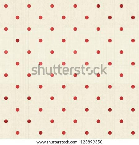 seamless retro polka dot pattern - stock photo