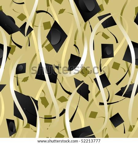 Seamless ribbon graduation background - raster - stock photo