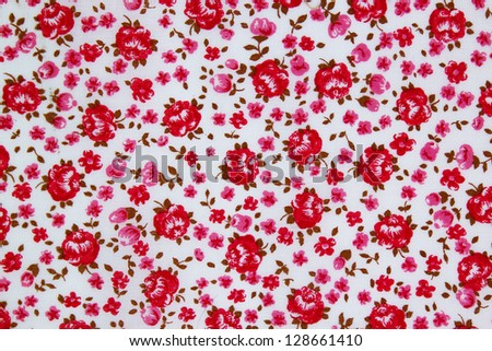 seamless rose background pattern design - stock photo