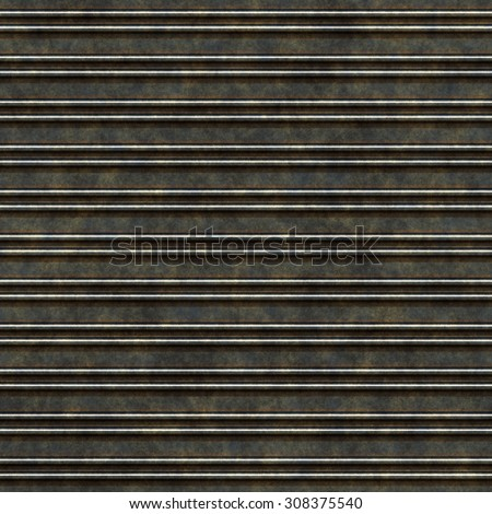 Seamless rusty metal grille pattern