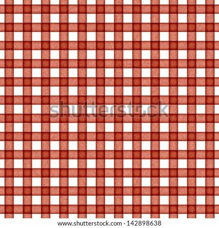Seamless Rusty Red Gingham - stock photo