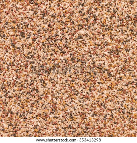 Seamless sand grain texture square background horizontal and vertical - stock photo