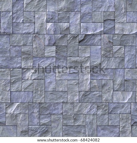 Seamless slate stone wall or path pattern that tiles seamlessly. - stock photo