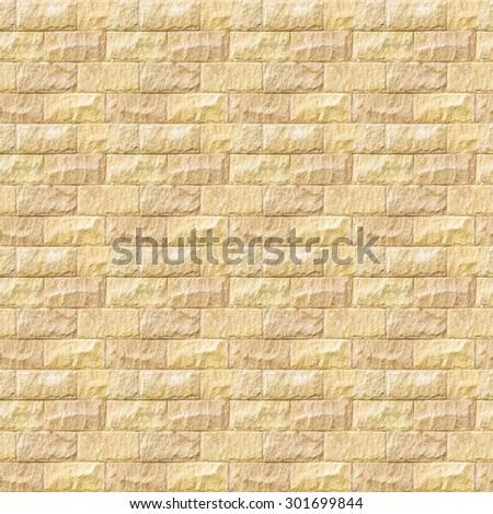 Seamless stone brick wall background. Stone texture. - stock photo