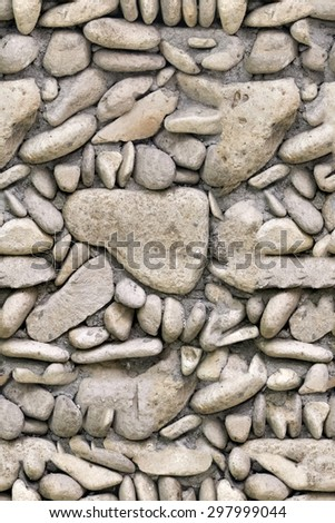 Seamless stone wall texture - stock photo