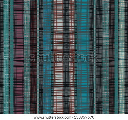 Seamless striped decor. Dark lines create the effect weave fabric. raster version - stock photo