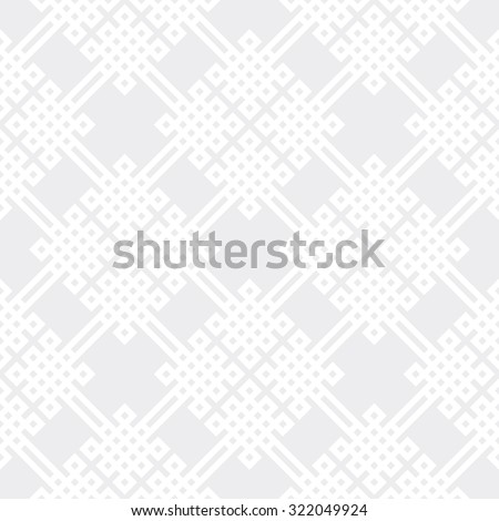 Seamless subtle gray celtic knots medieval classical textile pattern - stock photo