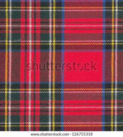 Seamless tartan background - stock photo