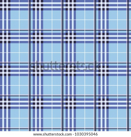 Seamless tartan pattern background, flat illustration design.