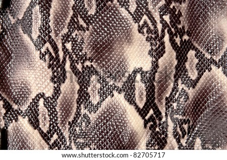 Seamless texture background brown snake leather - stock photo