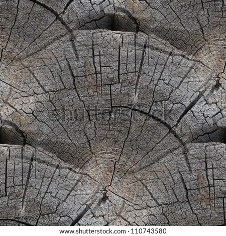 seamless texture background old wood cracks - stock photo