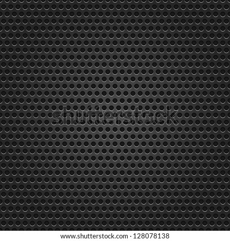 Seamless texture black metal surface dotted perforated background. This image for clip-art design element is a bitmap copy of my vector illustrations - stock photo