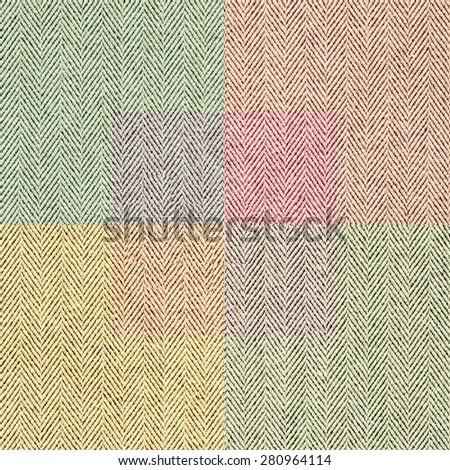 Seamless texture colored tweed fabric. Retro style. - stock photo