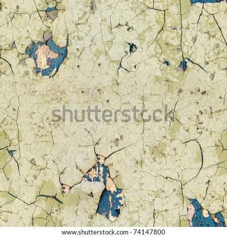 Seamless texture - half-rotten old enamel on the surface of the wall - stock photo