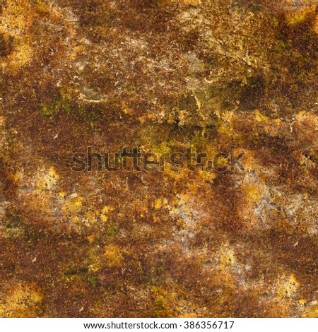 Seamless texture mossy stone. Brown stone seamless abstract. Background tile texture.
