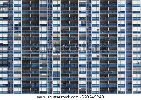Seamless texture of a residential building