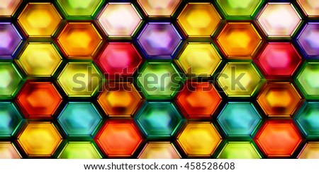 Seamless texture of abstract shiny colorful 2D illustration