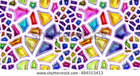 Seamless texture of abstract shiny colorful 3D illustration