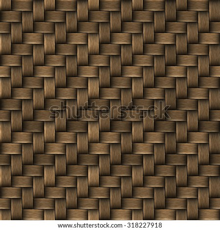 Seamless texture of basket surface. Pattern background. - stock photo