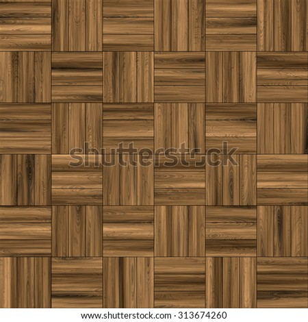 Seamless texture of brown parquet. Background pattern. - stock photo