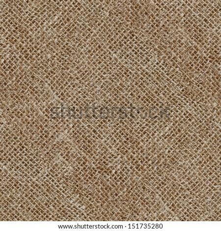 Seamless texture of canvas sacks - stock photo