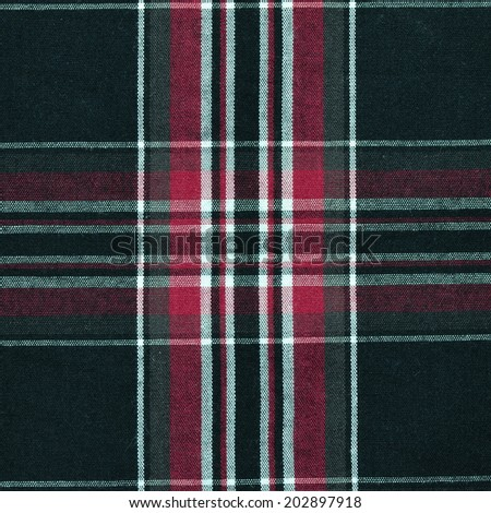 Seamless texture of fabric with plaid - stock photo