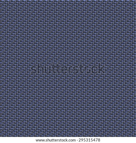 Seamless texture of fabric woven in 2/1 twill or serge pattern on black. Designed for use as texture in 3d modeling, dark pale blue 25x25 tiles.