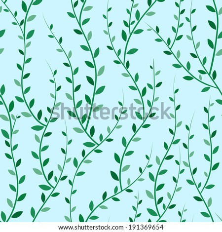 Seamless texture of green trees