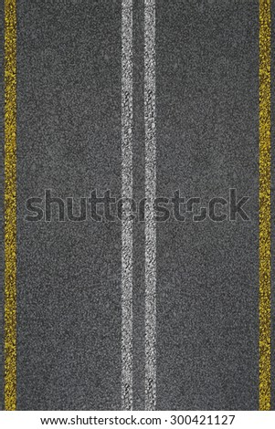 Seamless texture of grey road with stripes.