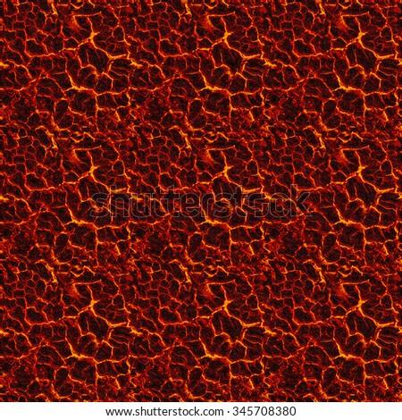 Seamless texture of molten magma or lava - stock photo