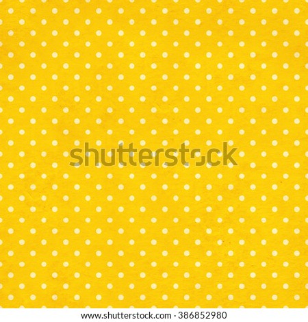 Seamless texture of the old paper with retro dots pattern