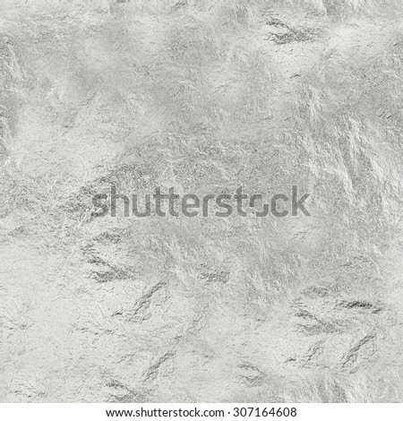 SEAMLESS texture of thin sheet of silver leaf background with shiny uneven surfaceof glossy metal. Background and wallpaper for different design ideas - stock photo