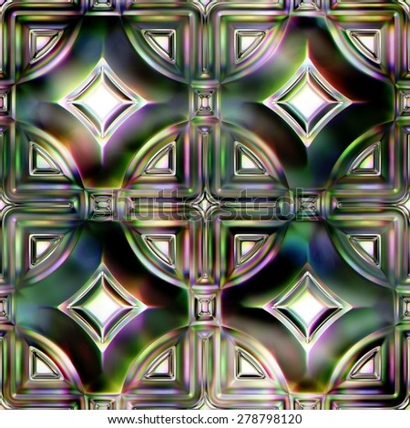 Seamless Texture stained-glass window - stock photo
