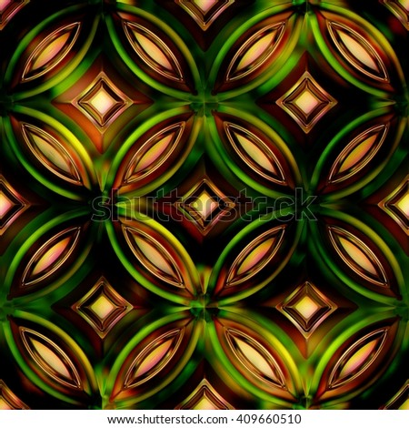 Seamless Texture stained-glass window 3D illustration