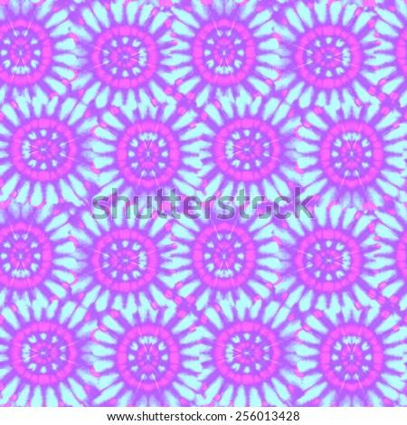 seamless tie dye pattern. abstract circular motifs tiling.  - stock photo