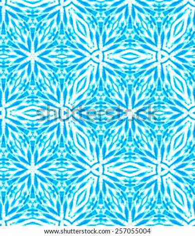 seamless tie dye pattern. floral layout, kaleidoscope pattern.  - stock photo
