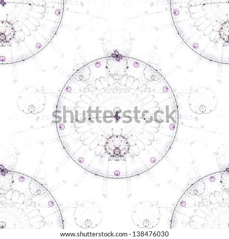 Seamless tileable background for wallpapers, high resolution, light colors, circles fractal pattern