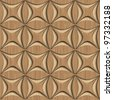 seamless tileable 3d background pattern - stock vector