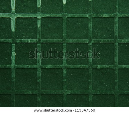 Seamless tileable grunge green square marble stone background - stock photo