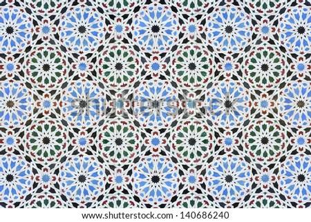Seamless tileable oriental background - stock photo