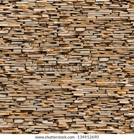 Seamless Tileable Texture of Surface Covered with a Slate Stone. - stock photo