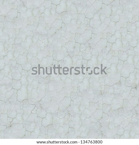 Seamless Tileable Texture of White Cracked Wall. - stock photo