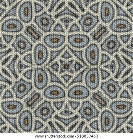 Seamless tiling abstract knitting texture