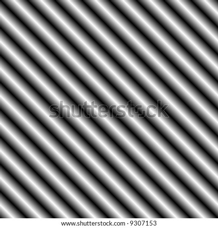 seamless tillable dark silver metallic background with diagonal stripes - stock photo