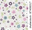 seamless Tiny floral pattern on grunge background wallpaper - stock vector
